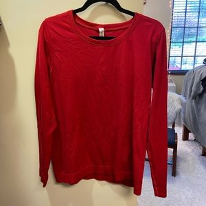 Red long sleeve lululemon top